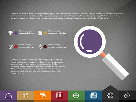 Creative Presentation Template with Tabs, Slide 15, 03253, Presentation Templates — PoweredTemplate.com