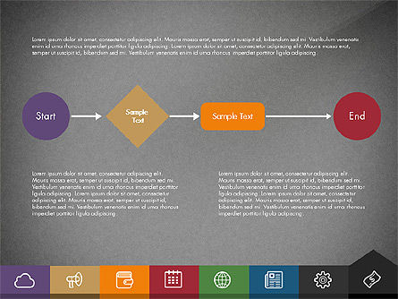 Creative Presentation Template with Tabs, Slide 16, 03253, Presentation Templates — PoweredTemplate.com