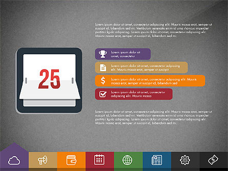 Creative Presentation Template with Tabs, Slide 9, 03253, Presentation Templates — PoweredTemplate.com