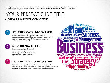 Business Word Cloud Presentation Template, 03256, Presentation Templates — PoweredTemplate.com