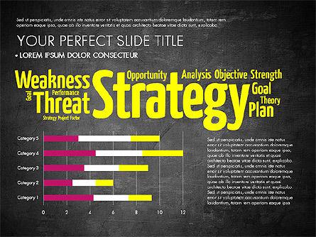 Business Word Cloud Presentation Template, Slide 10, 03256, Presentation Templates — PoweredTemplate.com
