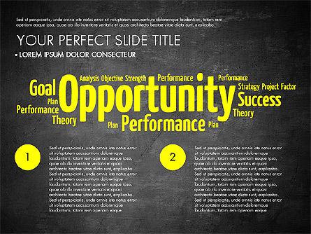 Business Word Cloud Presentation Template, Slide 11, 03256, Presentation Templates — PoweredTemplate.com