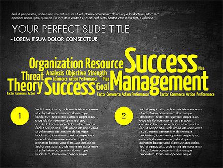 Business Word Cloud Presentation Template, Slide 13, 03256, Presentation Templates — PoweredTemplate.com