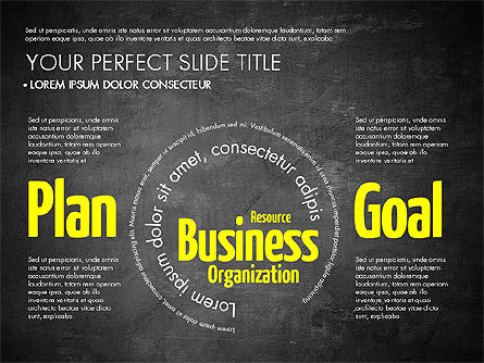 Business Word Cloud Presentation Template, Slide 14, 03256, Presentation Templates — PoweredTemplate.com