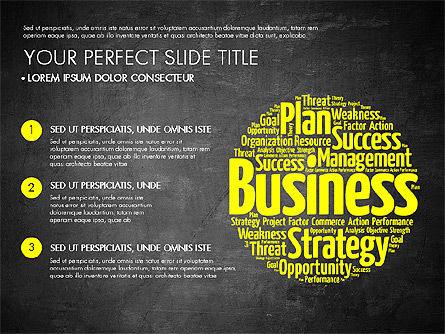 Business Word Cloud Presentation Template, Slide 9, 03256, Presentation Templates — PoweredTemplate.com