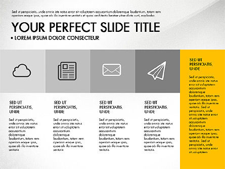 Presentation Templates: Monochrome Presentation in Flat Design Style #03257