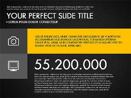 Monochrome Presentation in Flat Design Style, Slide 10, 03257, Presentation Templates — PoweredTemplate.com