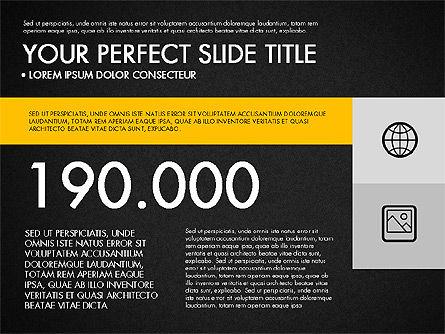 Monochrome Presentation in Flat Design Style, Slide 12, 03257, Presentation Templates — PoweredTemplate.com