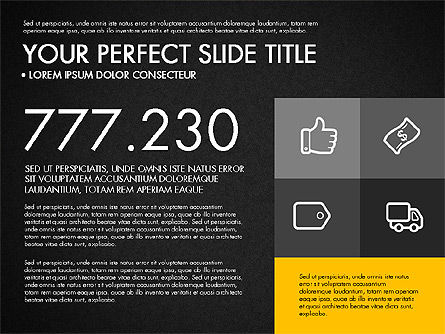 Monochrome Presentation in Flat Design Style, Slide 14, 03257, Presentation Templates — PoweredTemplate.com