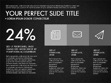 Monochrome Presentation in Flat Design Style, Slide 15, 03257, Presentation Templates — PoweredTemplate.com