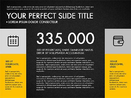 Monochrome Presentation in Flat Design Style, Slide 16, 03257, Presentation Templates — PoweredTemplate.com
