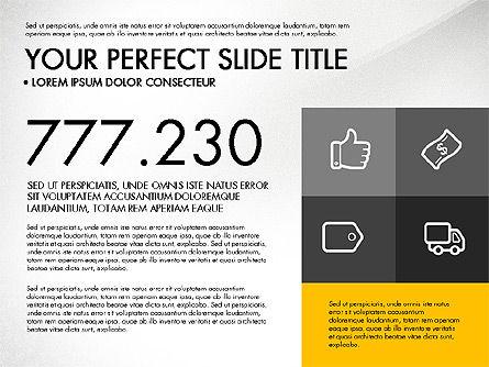 Monochrome Presentation in Flat Design Style, Slide 6, 03257, Presentation Templates — PoweredTemplate.com