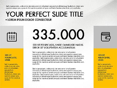 Monochrome Presentation in Flat Design Style, Slide 8, 03257, Presentation Templates — PoweredTemplate.com