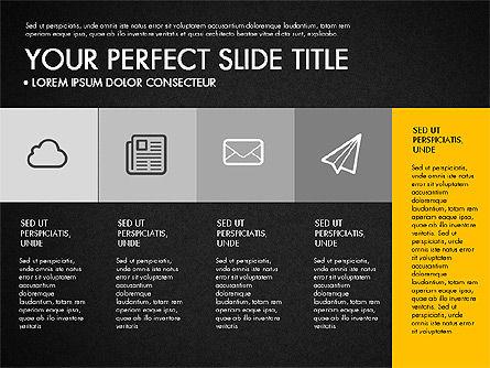 Monochrome Presentation in Flat Design Style, Slide 9, 03257, Presentation Templates — PoweredTemplate.com