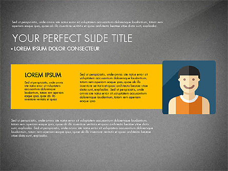 Team Profile in Material Design Style, Slide 10, 03258, Presentation Templates — PoweredTemplate.com