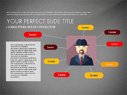 Team Profile in Material Design Style, Slide 11, 03258, Presentation Templates — PoweredTemplate.com