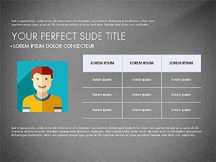 Team Profile in Material Design Style, Slide 12, 03258, Presentation Templates — PoweredTemplate.com