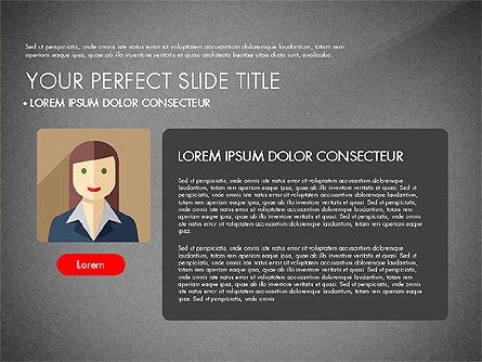 Team Profile in Material Design Style, Slide 13, 03258, Presentation Templates — PoweredTemplate.com