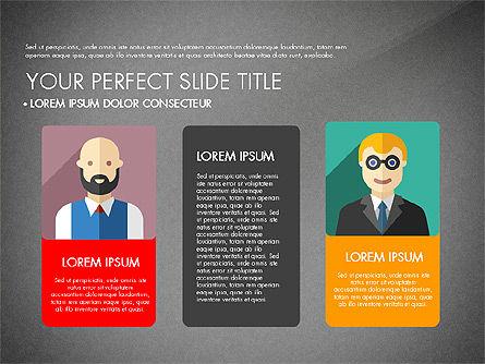 Team Profile in Material Design Style, Slide 16, 03258, Presentation Templates — PoweredTemplate.com