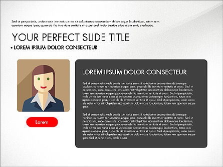 Team Profile in Material Design Style, Slide 5, 03258, Presentation Templates — PoweredTemplate.com