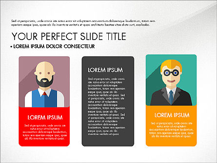 Team Profile in Material Design Style, Slide 8, 03258, Presentation Templates — PoweredTemplate.com