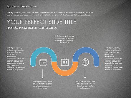 Timeline and Stages Process Diagram, Slide 11, 03261, Timelines & Calendars — PoweredTemplate.com