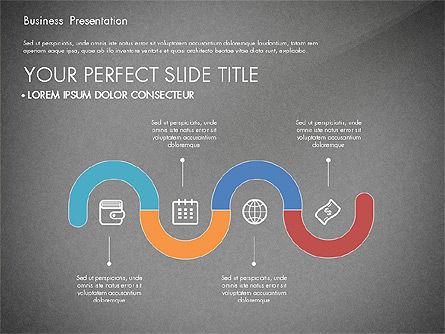 Timeline and Stages Process Diagram, Slide 13, 03261, Timelines & Calendars — PoweredTemplate.com
