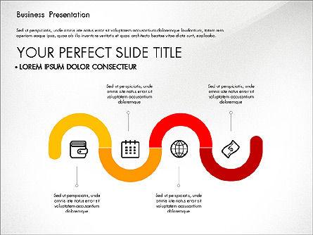 Timeline and Stages Process Diagram, Slide 5, 03261, Timelines & Calendars — PoweredTemplate.com