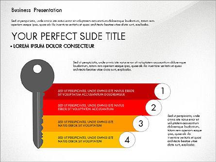 Timeline and Stages Process Diagram, Slide 6, 03261, Timelines & Calendars — PoweredTemplate.com