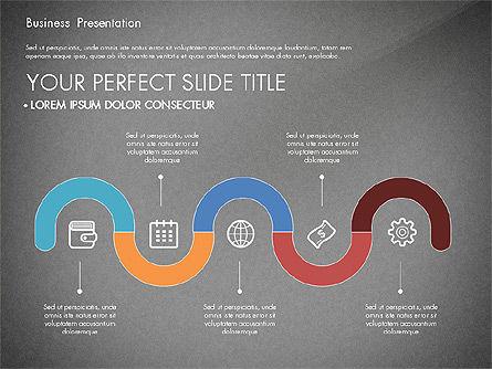 Timeline and Stages Process Diagram, Slide 9, 03261, Timelines & Calendars — PoweredTemplate.com
