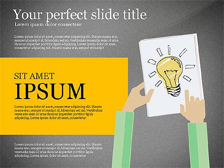 Creative Idea Presentation Template, Slide 11, 03262, Presentation Templates — PoweredTemplate.com