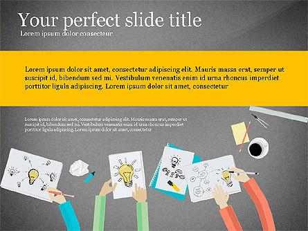 Creative Idea Presentation Template, Slide 12, 03262, Presentation Templates — PoweredTemplate.com