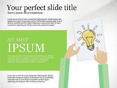 Creative Idea Presentation Template, Slide 3, 03262, Presentation Templates — PoweredTemplate.com