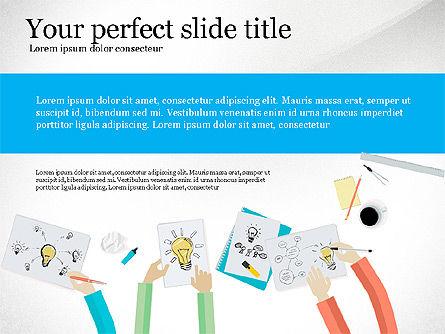 Creative Idea Presentation Template, Slide 4, 03262, Presentation Templates — PoweredTemplate.com