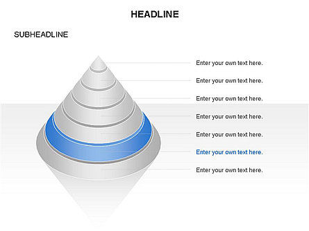 Layered Pyramid Toolbox, Slide 17, 03265, Shapes — PoweredTemplate.com