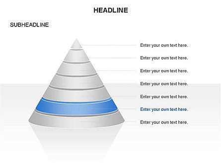 Layered Pyramid Toolbox, Slide 7, 03265, Shapes — PoweredTemplate.com