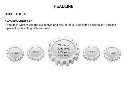 Gears Toolbox, Slide 23, 03266, Shapes — PoweredTemplate.com