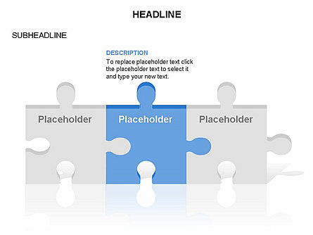 Puzzle Pieces Toolbox, Slide 12, 03268, Puzzle Diagrams — PoweredTemplate.com