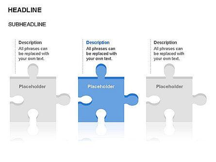 Puzzle Pieces Toolbox, Slide 2, 03268, Puzzle Diagrams — PoweredTemplate.com