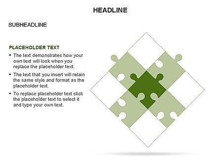 Puzzle Pieces Toolbox, Slide 26, 03268, Puzzle Diagrams — PoweredTemplate.com