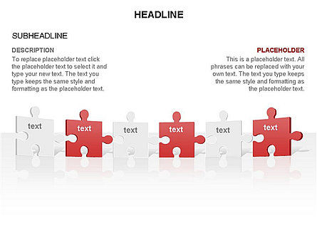 Puzzle Pieces Toolbox, Slide 28, 03268, Puzzle Diagrams — PoweredTemplate.com