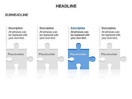 Puzzle Pieces Toolbox, Slide 3, 03268, Puzzle Diagrams — PoweredTemplate.com