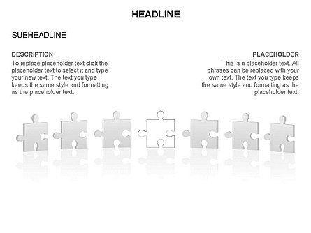 Puzzle Pieces Toolbox, Slide 34, 03268, Puzzle Diagrams — PoweredTemplate.com