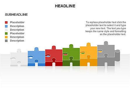 Puzzle Pieces Toolbox, Slide 35, 03268, Puzzle Diagrams — PoweredTemplate.com