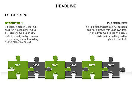 Puzzle Pieces Toolbox, Slide 37, 03268, Puzzle Diagrams — PoweredTemplate.com