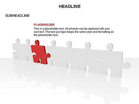 Puzzle Pieces Toolbox, Slide 38, 03268, Puzzle Diagrams — PoweredTemplate.com