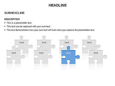 Puzzle Pieces Toolbox, Slide 7, 03268, Puzzle Diagrams — PoweredTemplate.com
