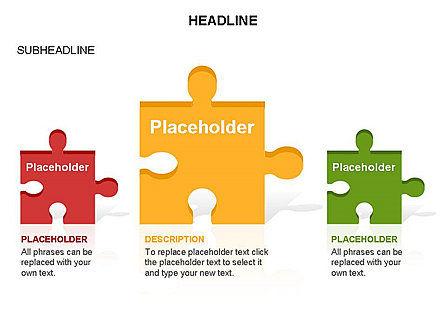 Puzzle Pieces Toolbox, Slide 8, 03268, Puzzle Diagrams — PoweredTemplate.com