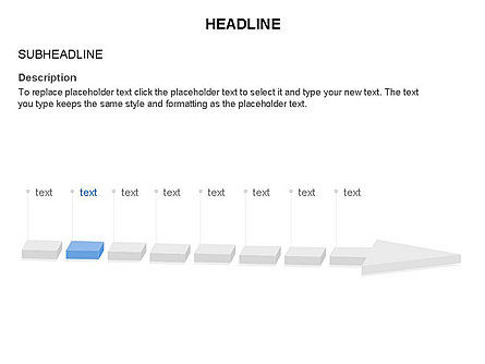 Process Arrow Toolbox, Slide 21, 03270, Process Diagrams — PoweredTemplate.com