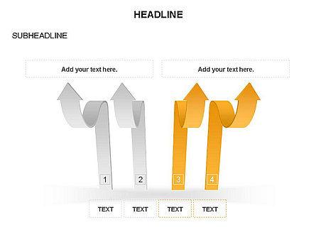 Cascade Arrows Toolbox, Slide 13, 03274, Process Diagrams — PoweredTemplate.com